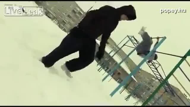 Télen nem jó mászókázni