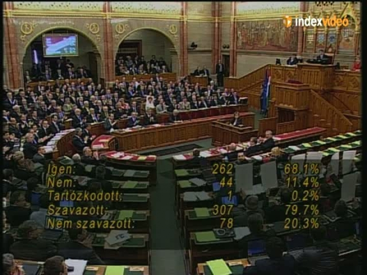 gy fogadta el az j alaptrvnyt a Parlament