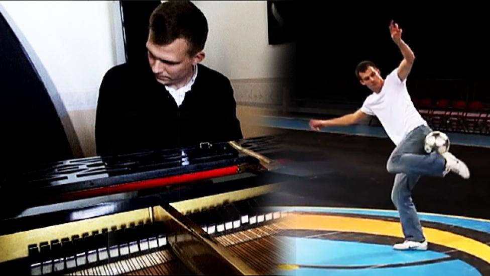 Zongoraművész és labdaművész