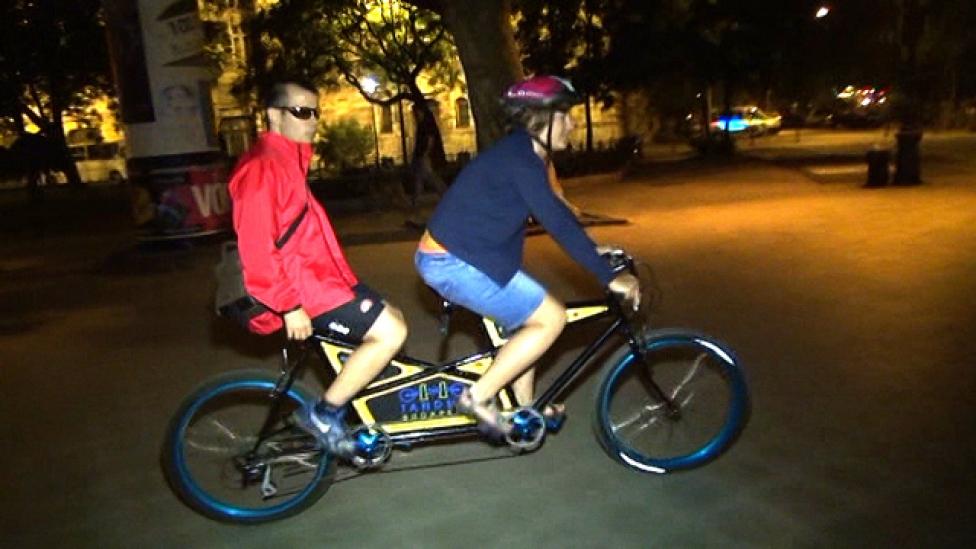 Vak bringások a belvárosban