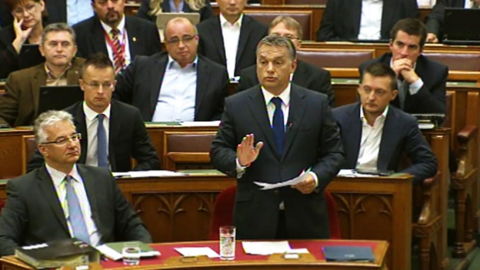 Orbán Viktor újra elemében volt