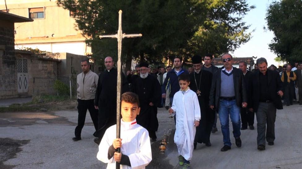 Keresztények harca a lángba borult Szíriában