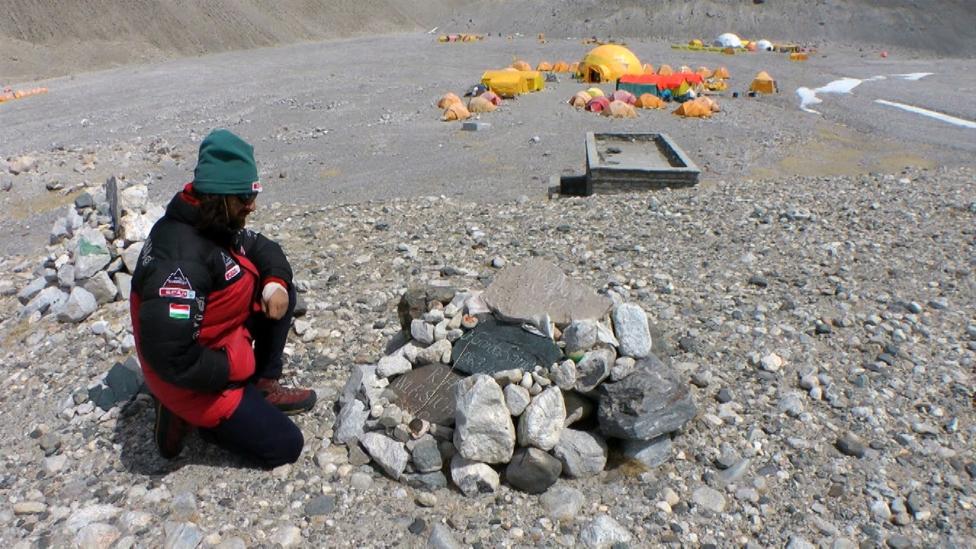 Emlékhely az Everest-alaptáborban
