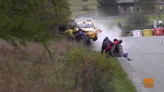 Rally baleset, dúrva