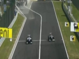 Barrichello-Schumacher a Hungaroringen