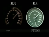 BMW 335d vs. 335i  0-200 km/h