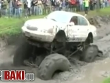 A monster truck beégése