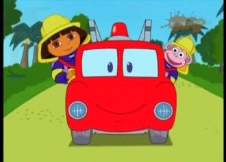 Dóra és Red, az új tűzoltóautó
