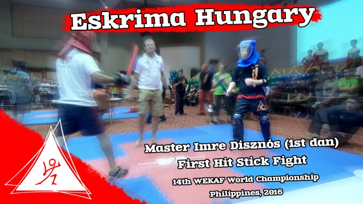 Disznós Imre - First hit stickfight 1. - 14th WEKAF World Championship - Philippines, 2016