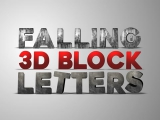 Falling 3D block letters - Stock video footage...