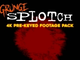 Grunge Splotch - Stock video footage pack