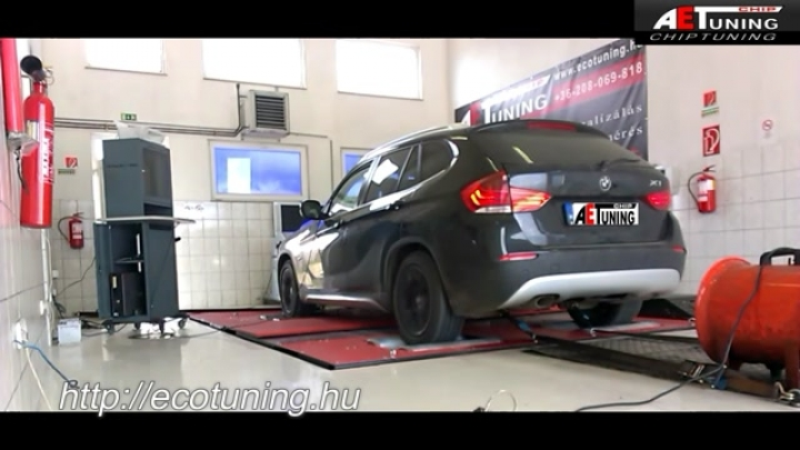 BMW_X1_23D_204LE_AET_CHIPtuning_Referencia_Video_DYNO