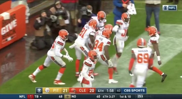 Josh Gordon TD catch TIES game Browns vs Steelers Week 1