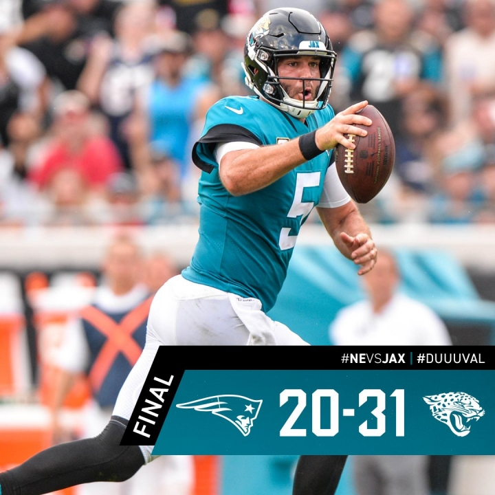 Blake Bortles' Big Game w/ 4 TDs vs. Pats!