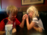 Cody beaten in arm wrestling by a girl