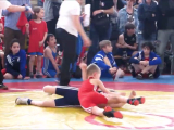 Ringen youth wrestling girl vs. boy Richter -...